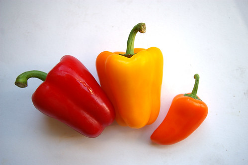 A trio of peppers