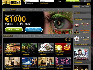 EuroGrand Casino Home