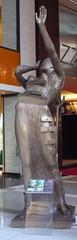 woman aflame (Mr. Dillinger) Tags: newyorkcity salvadordali timewarnercenter 2011