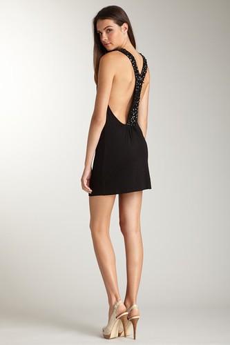 Josh Brody Jeweled Y Back Dress Size L