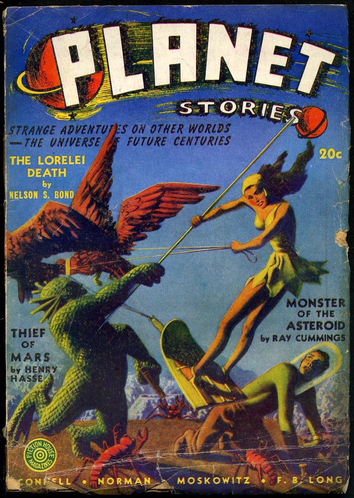 Hannes Bok - Planet Stories Cover