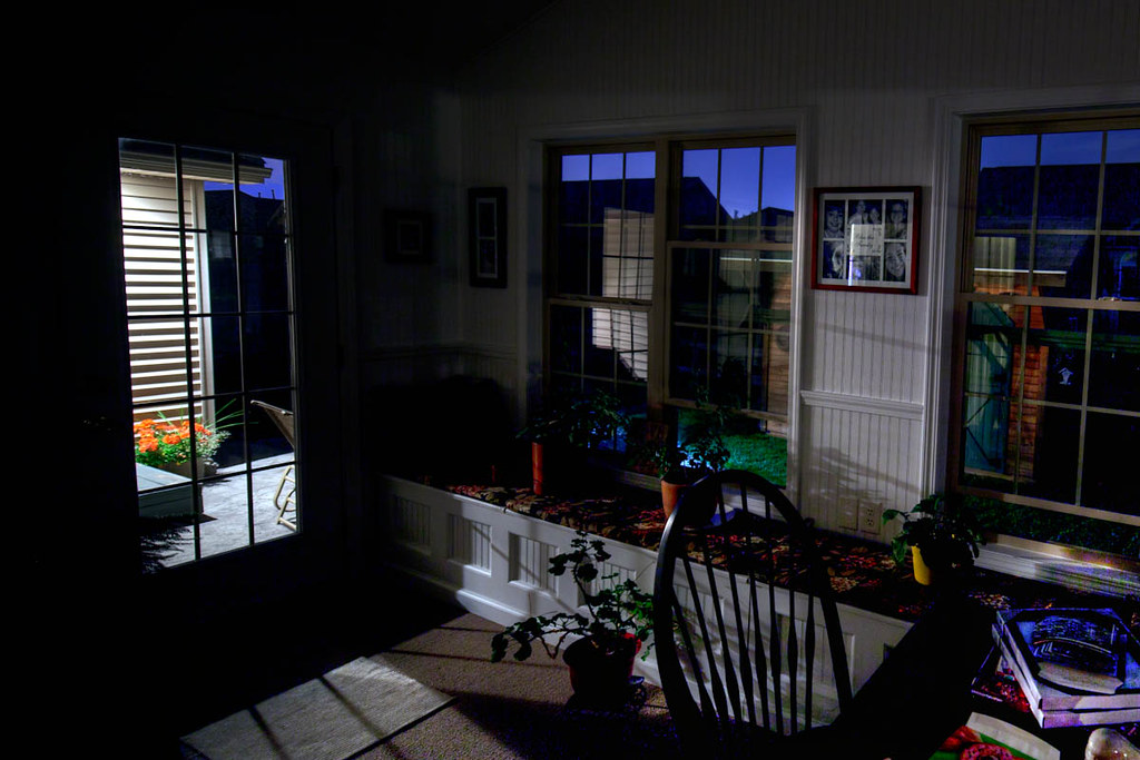 Sun room at night [235/365]