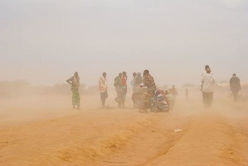 Dust storm in Dadaab refugee camp