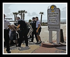 I KNEW THEY USED LOADING ZONES FOR SOMETHING (NC Cigany) Tags: ocean sky sc water sign myrtlebeach nc cops waterfront wwii gray navy southcarolina police boardwalk wilmington arrest iphotooriginal pedestrianwalkway 5859