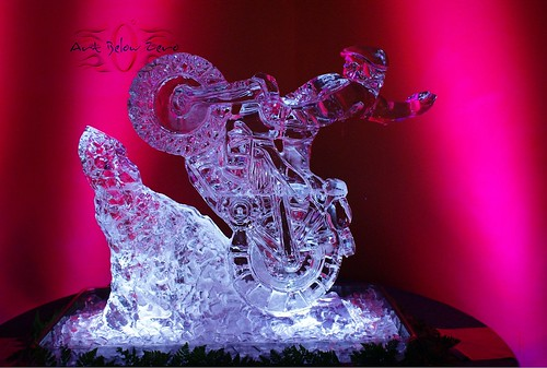 Hill Climber at Harley Davidson Museum Milwaukee ice sculpture