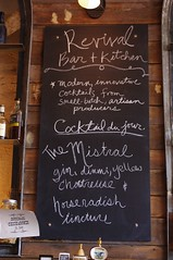 Revival Bar Menu