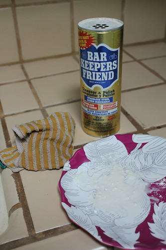 Make a paste with Bar Keepers Friend