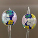Earring Pair : Deep Blue Garden 3