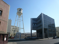 Paramount Pictures Backlot (jericl cat) Tags: pictures city urban building tower film water set architecture modern facade movie studio design office cityscape fake front historic studios sets false paramount backlot