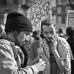 Protest (SPIngram) Tags: street city uk blackandwhite bw westminster mono photo student educat