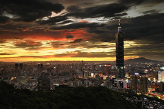 () Tags: sunset taiwan 101  taipei101           nanmadol mtelephant