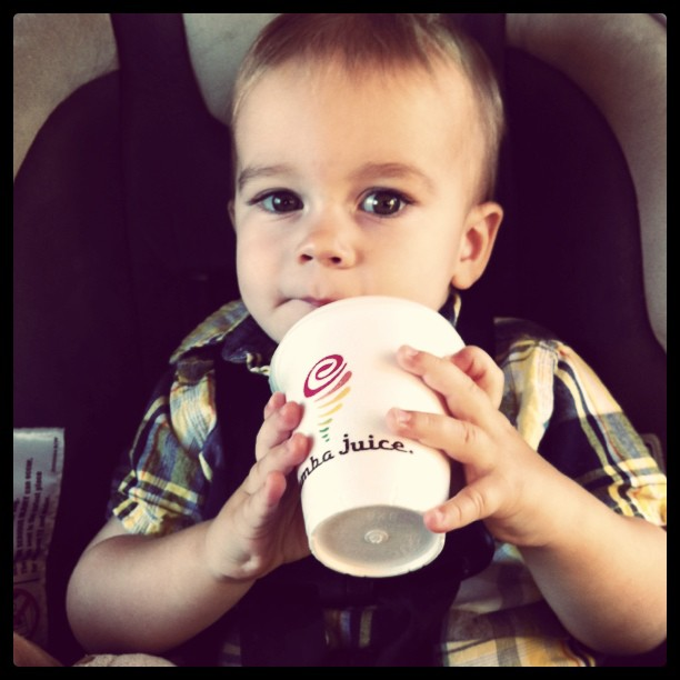 Liam loves Jamba Juice