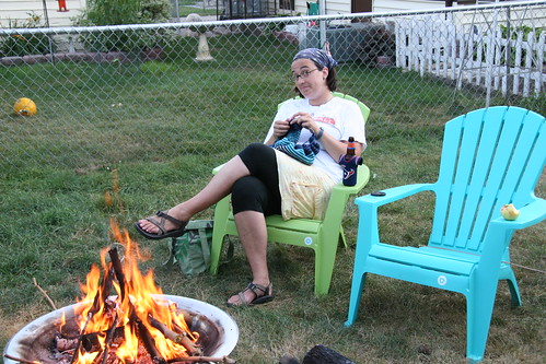 fireside knitting