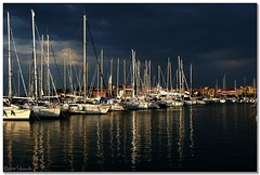 Calm before storm (aviana2) Tags: sea marina slovenia strom izola waterboats fotocompetitionfotocompetitionbronze