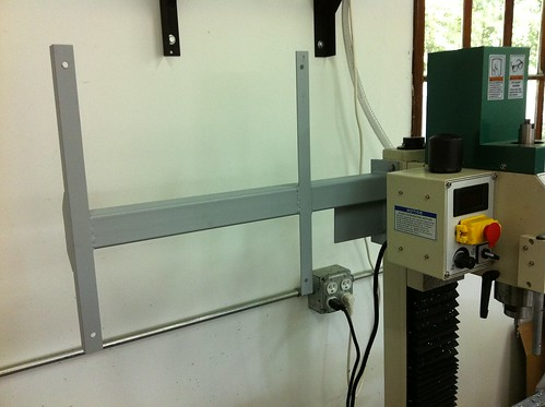 custom CNC controller box mounting arm