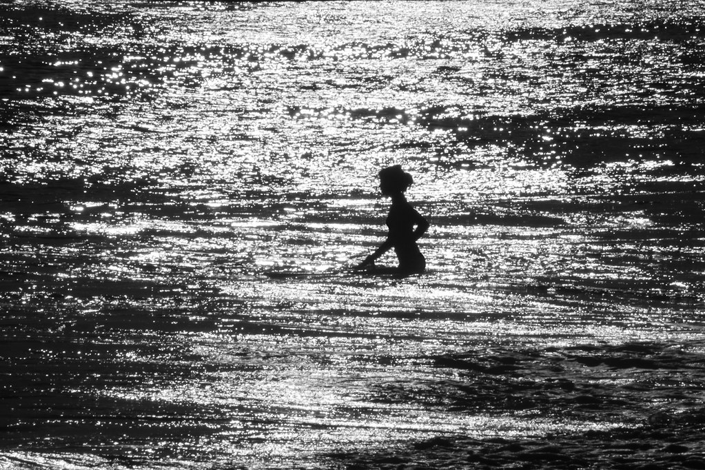 Girl Surfer Silhouette 2965