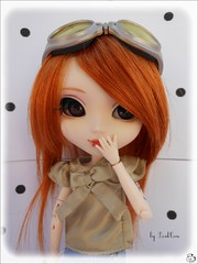 • Floppy • [Pullip Stica Custo] (• PinkC0w •) Tags: new red white glasses eyes rust doll dolls skin planning floppy wig groove cancan pullip custom pullips custo jun sbh redhaired pinkcow obitsu junplanning rewigged obitsubody stica pullipstica acrilyceyes pullipsticacusto