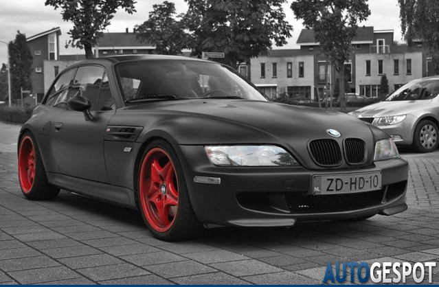 S50B32 M Coupe | Matte Black Vinyl Wrap | Imola/Black