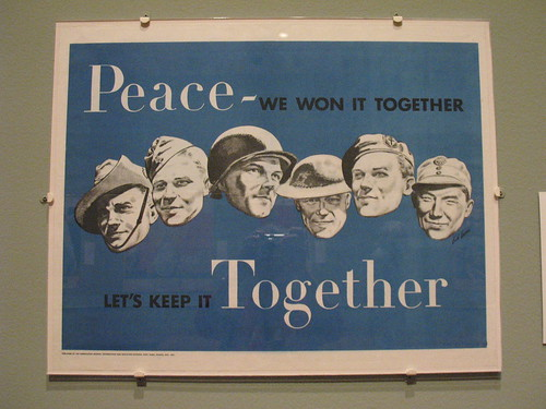 """Peace - we won it together"""