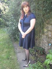 blue satin dress  redhead(22) (Jenni Makepeace) Tags: blue stockings tv dress dressing redhead tgirl transvestite service satin crossdresser shemale sophies pvcjenni sophiesdressingservice jennimakepeace