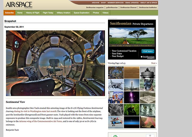 "Boeing B-17 ""Sentimental Journey"" featured in Air&Space Magazine"