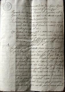 Istrumento di dote di Rosa Susani, 8 ottobre 1823, ALPE, Testatori, Susani Carpi Rosa
