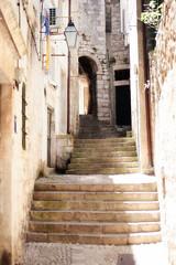 Croatia, Dubrovnik, Stairway (gcasirati) Tags: city light summer white beautiful stairs contrast canon town soft heaven citadel centre croatia stairway shining dubrovnik gentle ragusa mediterrean