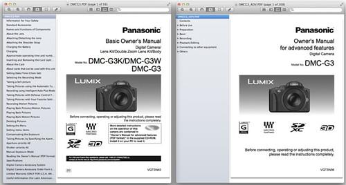 Panasonic G3 Basic and Advanced Manuals