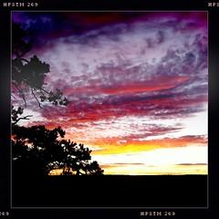 Cloud Sandwich (Helldorado Berlin) Tags: sunset summer arizona colors clouds evening nationalpark colours grandcanyon silhouettes southrim hipstamatic pistilfilm cloudsstormssunsetssunrises wattslens