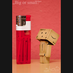 Big or small? (Oliver Totzke) Tags: toy fire nikon days sp 365 lighter tamron vc usd 70300 danbo revoltech danboard d7000