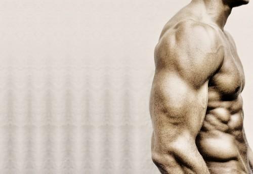 [フリー画像] 人物, 男性, ボディーパーツ, 筋肉, 201109070500