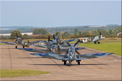 Taxiing Spitfires (PaulHP) Tags: museum war september airshow duxford imperial spitfire airfield taxiing iwm supermarine spitfires