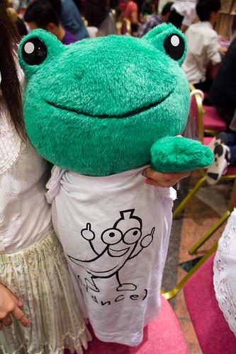 今天的噗蕉tee 模特兒是青蛙先生哦