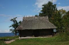 Old house on the Baltic coast (Sokleine) Tags: sea heritage seaside estonia traditions baltic thatchedroof eesti estonie chaumire altja lahemaapark