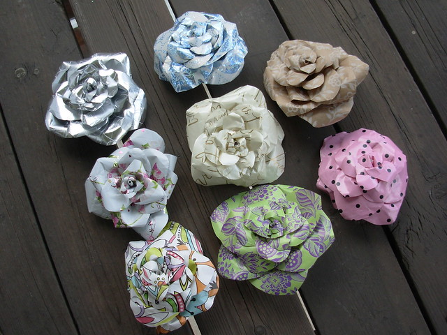 Wrapping Paper Roses