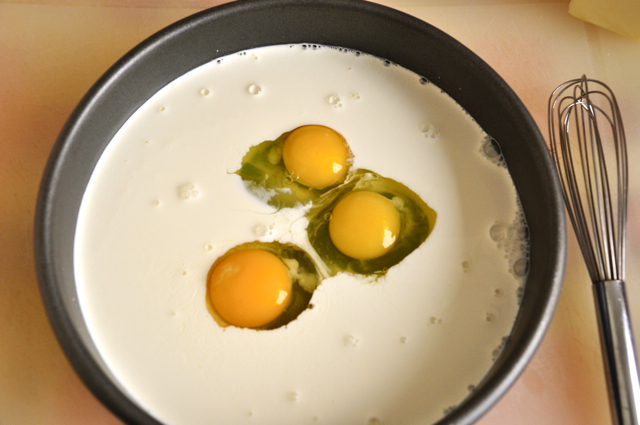 Three Eggs in Batter
