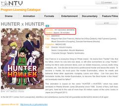 110905(2) - 將從10/2首播的電視動畫版《HUNTER×HUNTER》計畫播出45集以上!