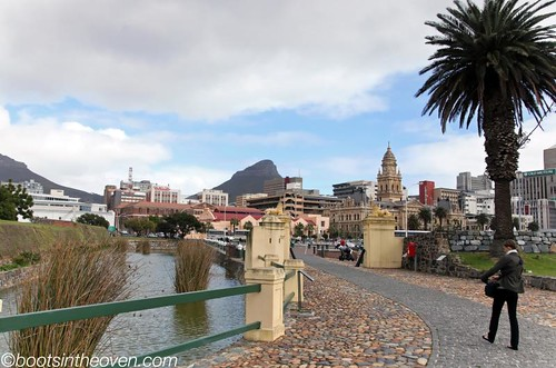 Walking near the Castle of Good Hope in Cape Town