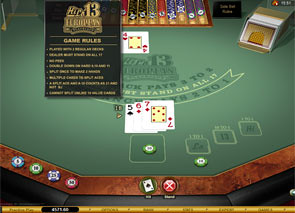 Hi Lo 13 European Blackjack Gold Rules