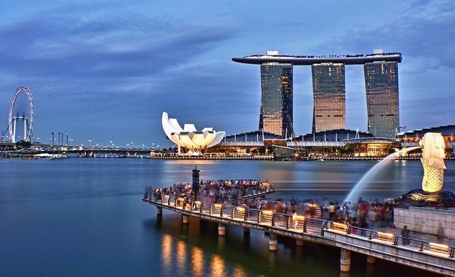 Marina bay @ Blue hour.
