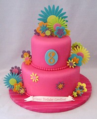 Fantasy Flowers Hot Pink (Cake Diane Custom Cake Studio (eyedewcakes)) Tags: birthday pink flower cake fantasy hotpink fantasyflower