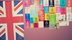 KEEP CALM (aura Tourette's) Tags: greatbritain wall poster pared unitedkingdom posters bandera reinounido keepcalm granbretaa banderauk