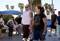 Inked (DodgeMedlin) Tags: california losangeles nikon couple tattoos socal wonderwoman southerncalifornia veniceboardwalk oceanfrontwalk d5000