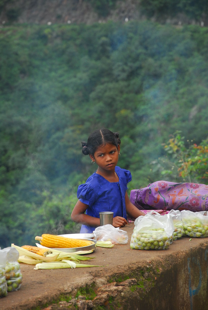 Little girl at Araku valley. Hope is that keeps life moving..