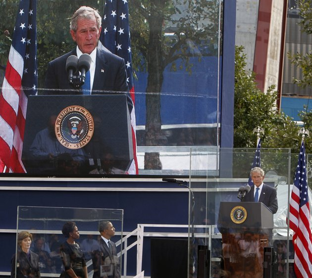 ground-zero-george bush sept 11 2011
