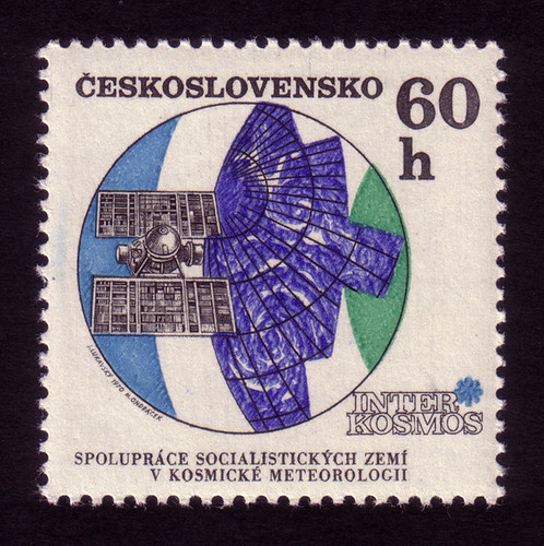 Czech stamps: Molniya meteorological satellite