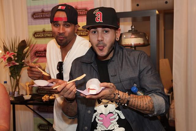 Danny Fernandes and JRDN tasting Baker Street desserts