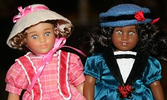 Mini Marie-Grace and Cécile (Crazyquilter) Tags: dolls ag miniamericangirldolls minimariegrace minicécile