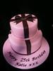 Awesome Cakes UK - 2 tier Pink & Brown Bow Cake (Awesome Cakes UK) Tags: weddingcakes noveltycakes sugarmodelling photocakes awesomecakesuk