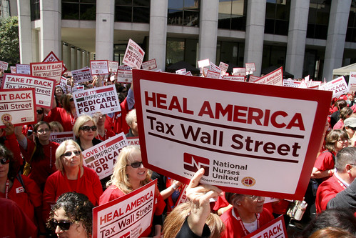 TAX WALL STREET SIGNS